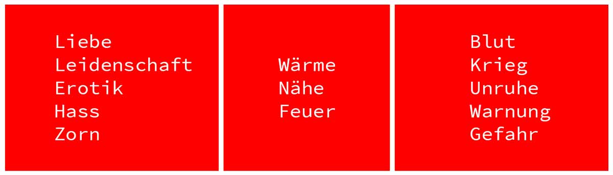wirkung farbe rot webdesign